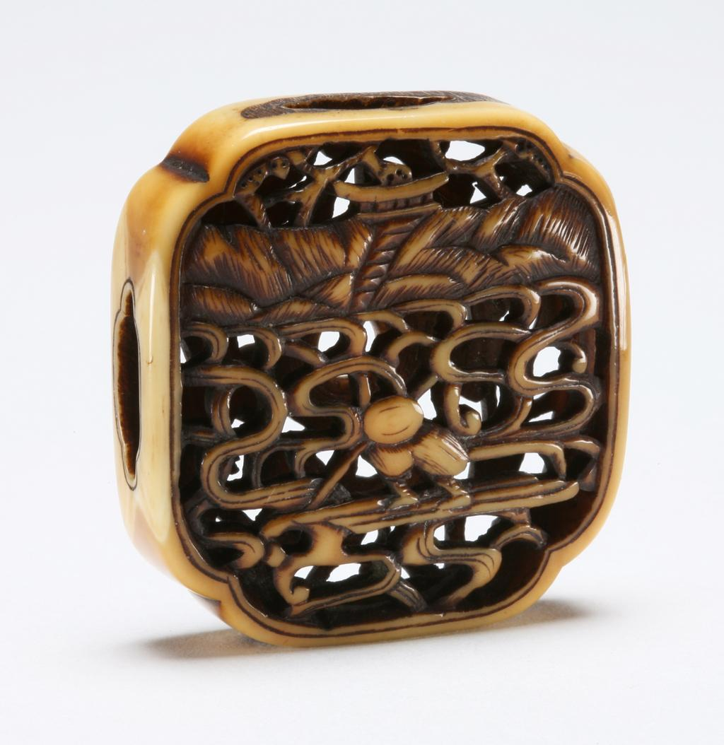 Featured image for the project: Ryusa Netsuke with carving of flowers and birds