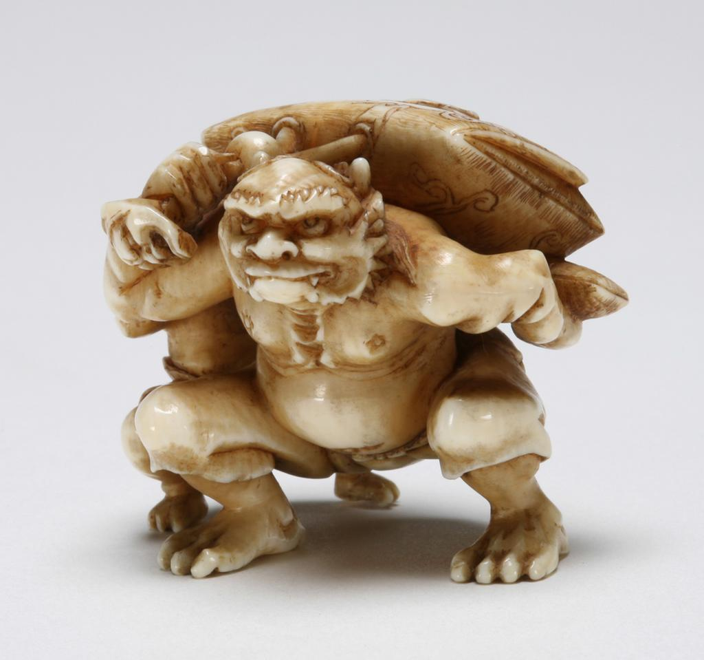 Featured image for the project: A netsuke represenging an Oni